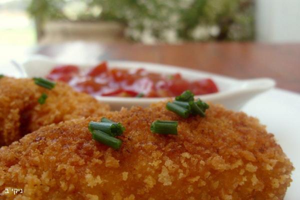 חזה עוף ממולא בשר טחון ברוטב עגבניות ופלפלים