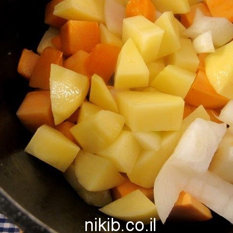 מרק בטטה ושמנת
