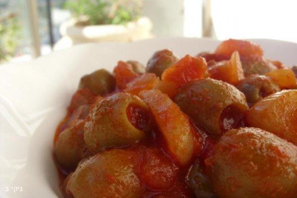 סלט זיתים חם ופיקנטי / ארוחת שישי מעולה