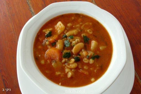 מרק שעועית וירקות עשיר / ארוחה קלה להכנה