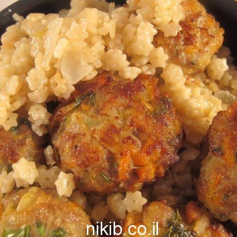 קציצות הודו וירקות / הגיע הזמן לבשל את ארוחת שישי