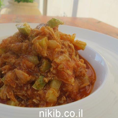 תבשיל טונה וירקות