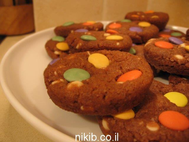 עוגיות שוקולד צ'יפס עם עדשים / עוגיות למשלוח מנות