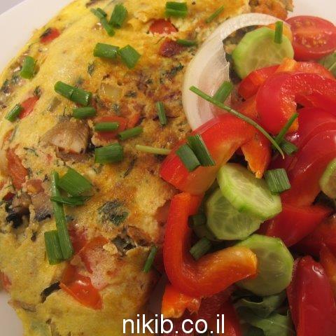 חביתת ירק עם גבינות