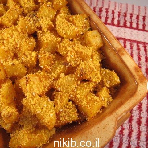 תפוחי אדמה בתנור קריספי / מתכונים בישולים לשבת