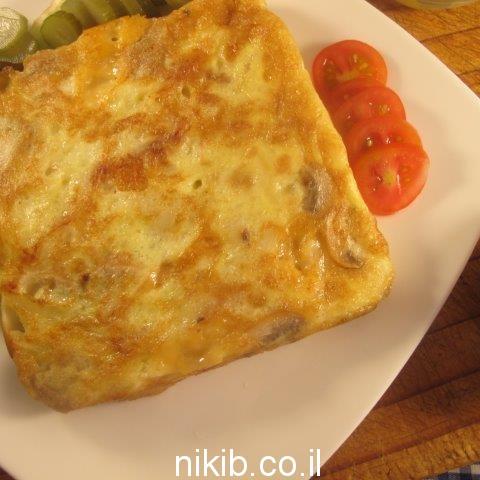 חביתת תפוחי אדמה ופטריות