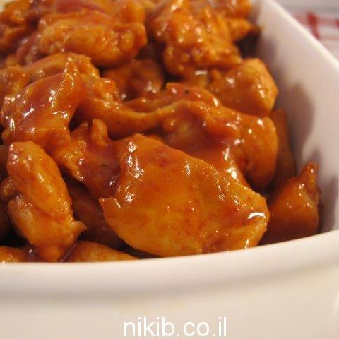 חזה עוף ברוטב חמוץ מתוק