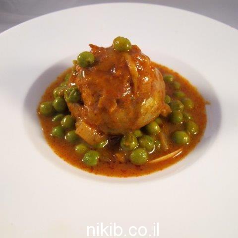 לבבות ארטישוק ממולאים בשר עם אפונה / שישי טעים!
