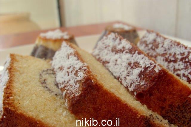 עוגת פרג וניל רכה