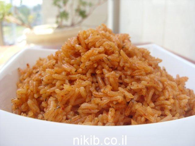 אורז כתום / ארוחה טעימה לשישי