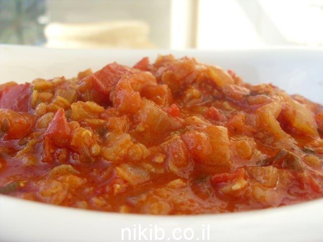 תבשיל עגבניות ועדשים / תפריט בישולים לשישי שבת