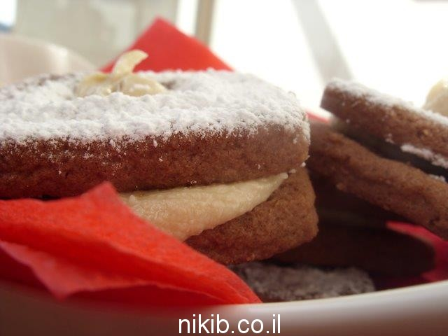 עוגיות שוקולד קפה עם מילוי חלבה / אוכל לערב שישי