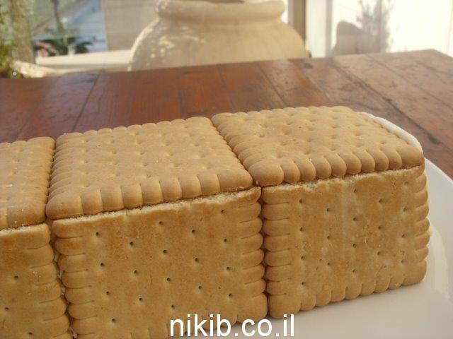 עוגת ביסקוויטים גבינה באינגליש קייק