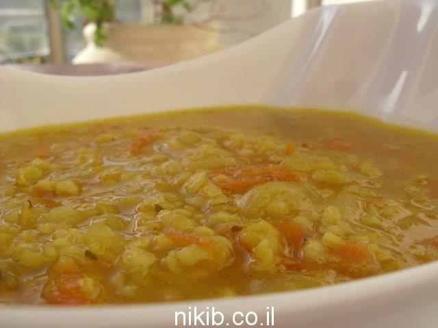 מרק בורגול ועדשים / תפריט בישולים לשישי שבת