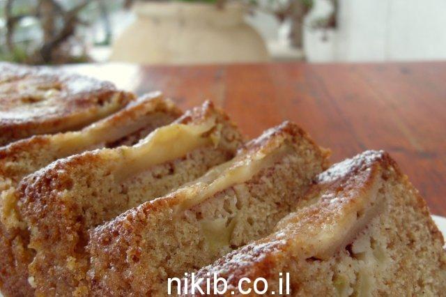 עוגת תפוחים ודבש הפוכה