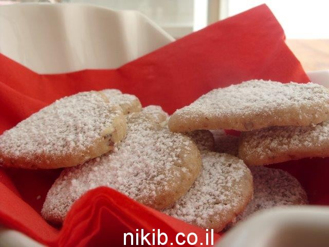 עוגיות קפה ואגוזים