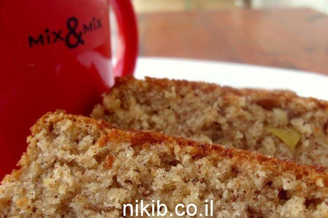 עוגת תפוחים ושיבולת שועל
