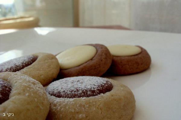 עוגיות טחינה דבש ושוקולד / עוגיות למשלוח מנות